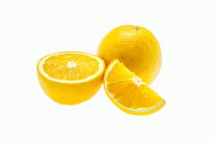 Orange fruit isolated on white background Royalty Free Stock Photos