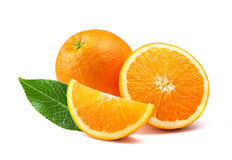 Orange fruit isolated on white background. Orange citrus fruit on white background Royalty Free Stock Photo