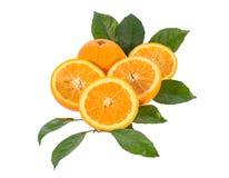 Orange fruit, Isolated on white background Royalty Free Stock Images