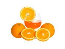 Orange fruit, Isolated on white background Stock Photo