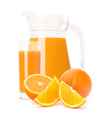 Orange fruit juice in glass jug Stock Image