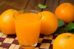 Orange fruit and juice Stock Images