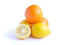 Orange fruit and lemon Royalty Free Stock Photo