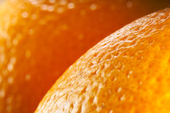 Orange fruit macro. stock images