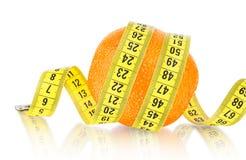 Orange Fruit with measurement Royalty Free Stock Image