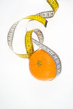 Orange fruit and meter Stock Images