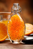 Orange - fruit and minerals for Spa Stock Photos