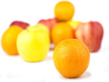 Orange and Fruit mix Stock Images