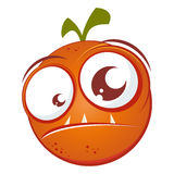 Orange fruit monster Stock Images