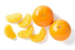 Orange fruit and orange segments Stock Image