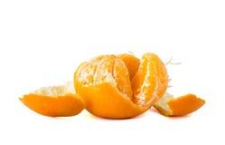 Orange Fruit  peeled off Stock Photography