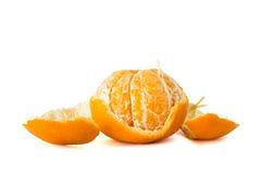 Orange Fruit  peeled off Stock Images