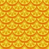 Orange fruit seamless bright pattern. Orange t seamless bright pattern. Vector illustration Stock Photos