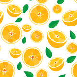 Orange fruit,seamless pattern background Royalty Free Stock Photo