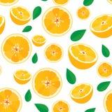 Orange fruit,seamless pattern background Royalty Free Stock Photo