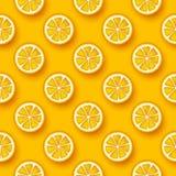 Orange fruit seamless pattern. Stock Images