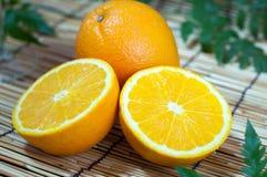 Orange fruit segments. Sliced orange fruit segments, vitamin C Stock Photo