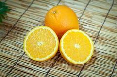 Orange fruit segments. Sliced orange fruit segments, vitamin C Royalty Free Stock Photo