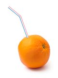 Orange fruit and sipper Stock Image
