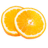 Orange Fruit Slice Isolated On White Background Royalty Free Stock Photo