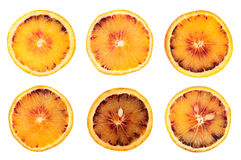 Orange fruit slice isolated Royalty Free Stock Images