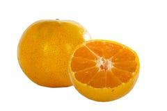 Orange fruit with slice isolated on white background. Stock Photography