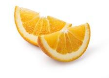 Orange fruit slice isolated. On white background Royalty Free Stock Photo
