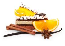 Orange fruit slice and spices Royalty Free Stock Photo