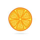 Orange fruit slice vector Royalty Free Stock Image