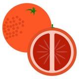 Orange fruit  with sliced flesh icon, vector illustration Stock Photos