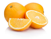 Orange fruit sliced isolated on white background Stock Photography