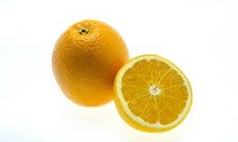Orange fruit sliced isolated on white background Stock Image