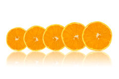 Orange fruit slices Stock Photos