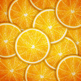 Orange fruit slices background Royalty Free Stock Photos