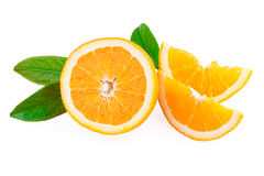 Orange Fruit and Slices of fruit Stock Image