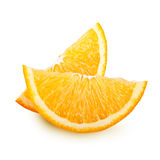 Orange fruit slices isolated. Stock Photography