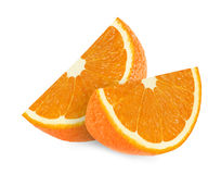 Orange fruit slices  on a white background Royalty Free Stock Photos