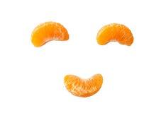 Orange fruit smiling 3 piece on background. Orange fruit smiling 3 piece,isolated on background Royalty Free Stock Photo