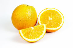 Orange fruit split Stock Photo