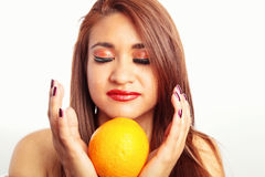 Orange Fruit Temptation Royalty Free Stock Photo