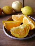 Orange fruit tray Royalty Free Stock Images
