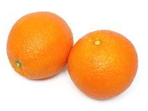 Orange, fruit, two, sweet, vitamins, health, marke. Two oranges on white underground Royalty Free Stock Photography
