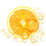 Orange fruit with water drops Stock Photography