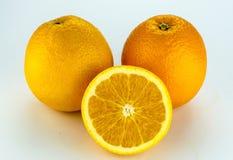 Orange fruit on white background. Royalty Free Stock Photography