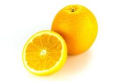 Orange fruit on white background. Royalty Free Stock Photos