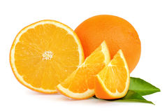 Orange fruit on white background Royalty Free Stock Photos
