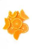 Orange fruit  on white background Stock Photos