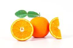 Orange fruit on white background. Isolate Stock Images