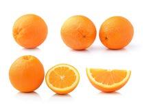 Orange fruit on white background Royalty Free Stock Image