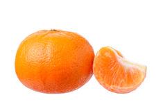 Orange fruit  on white background Royalty Free Stock Image